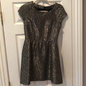 Vero Moda Metallic Leopard Skater Dress